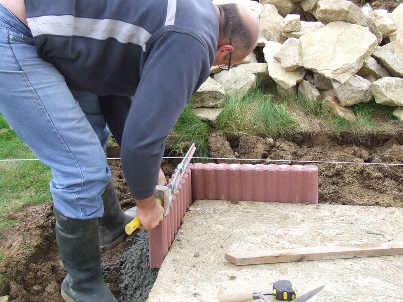 Super Awesome Pose De Bordure De Jardin #12: Démo Pose De Bordures Béton  VU67