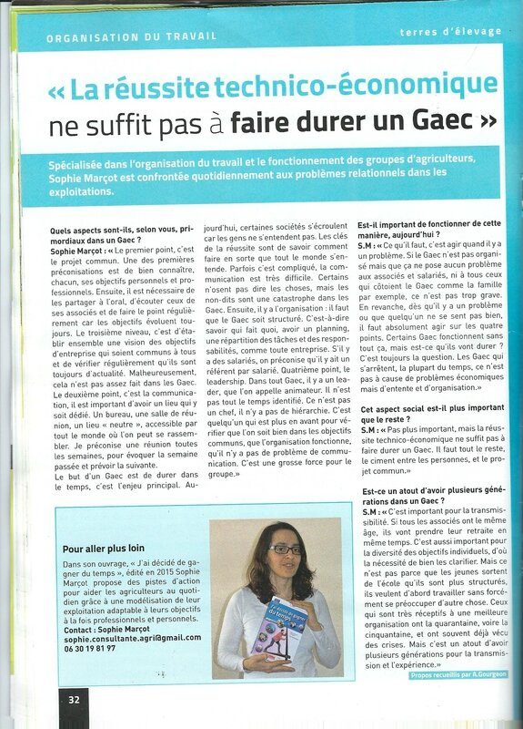 TERRES D'ELEVAGE page 32 A GOURGEON SOPHIE MARCOT