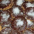 Gâteau au chocolat et noix de coco pour noël