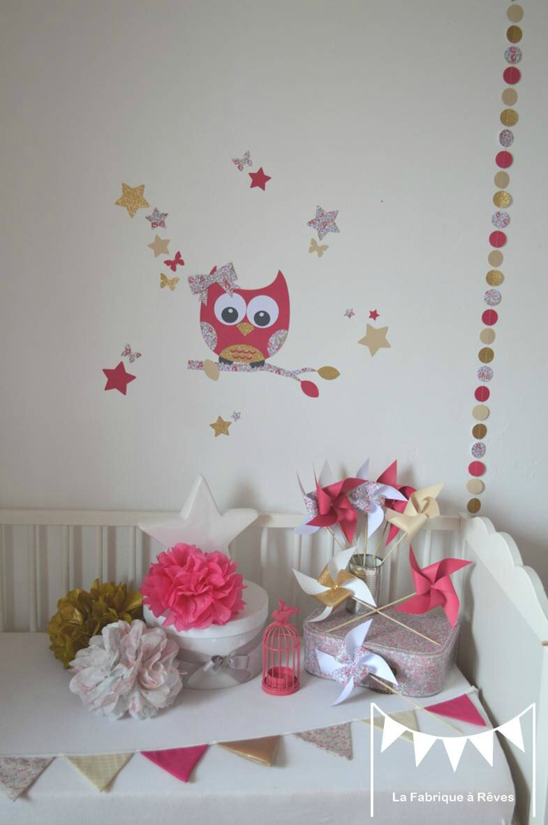 Decoration chambre bebe theme hibou for Theme deco maison