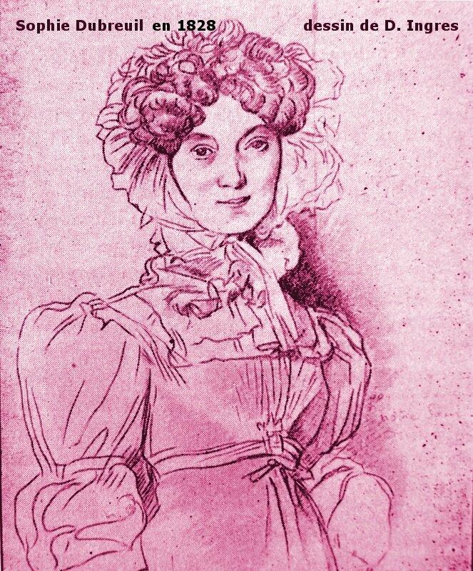 1828-portrait de Sophie Dubreuil-dessin de Dominique Ingres