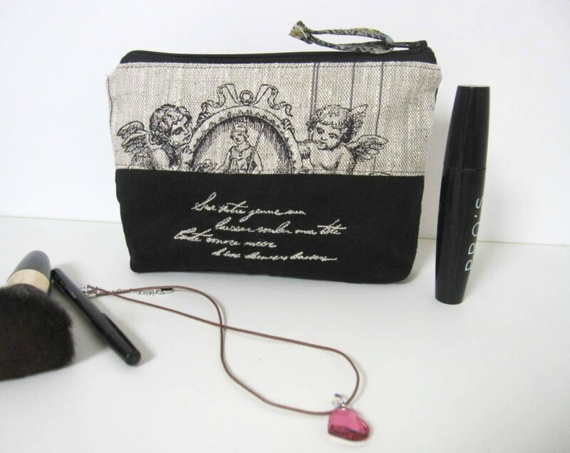 trousse maquillage patchwork lin chanvre 001
