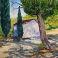 0002 Huile Paysage de Provence