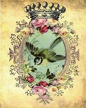 4_Layla_-_Forget_Me_Not_-_vintage_bird_collage_-_doolfacedesign_on_Etsy