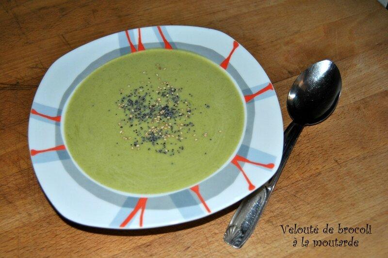 Velouté de brocoli à la moutarde