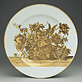 Dish, ca. 1735–40. chinese for the scottish market