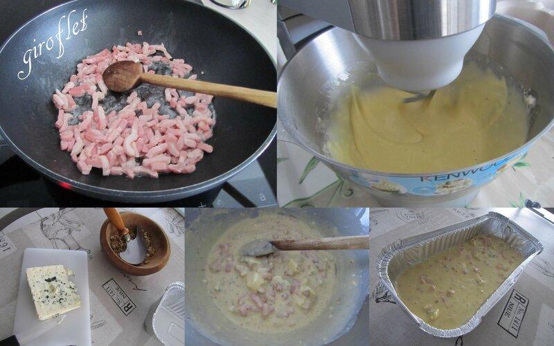 cake roquefort noix montage