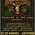 Heidenfest: twilight of the gods (bathory tribute) + ensiferum...@ rennes & paris‏