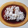 Cameo: triumph of dionysus, alexandria. 1st century bc.