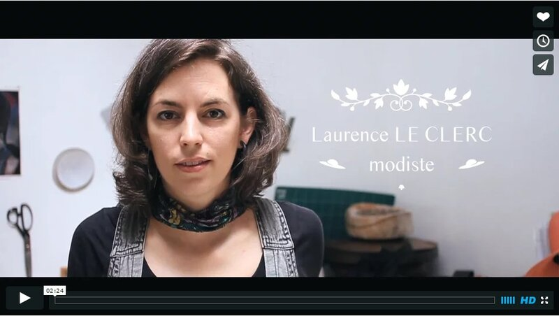 modiste laurence le clerc video pauline goasmat