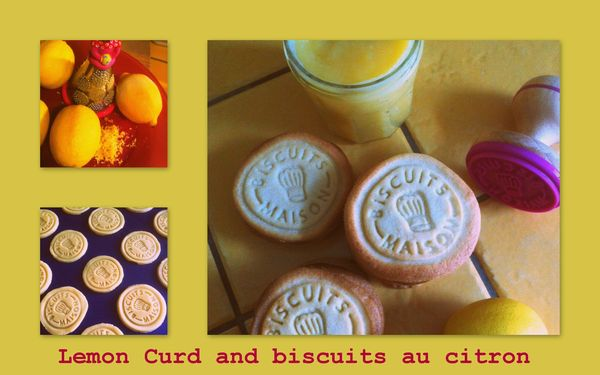 lemon curd and biscuits citron