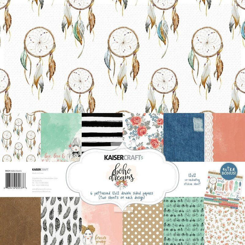 Kaisercraft-Boho-Dreams-KCPK537-Paper-Pack