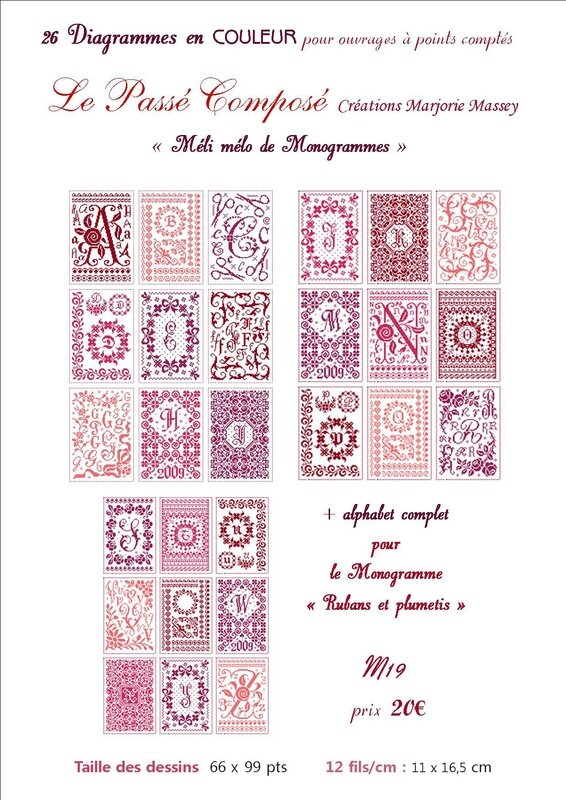 M19 - 26 monogrammes