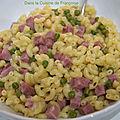 Coquilletto aux petits pois et jambon (coquillettes comme un risotto)