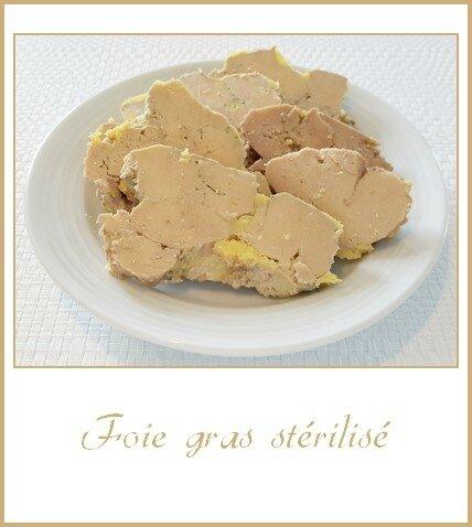 Foie gras stérilisé