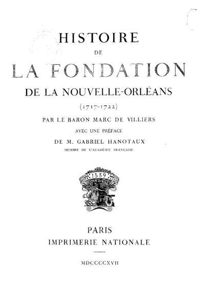 Histoire de la fondation de la nouvelle orléans_1