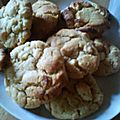 cookies beurre de cacahute chocolat blanc