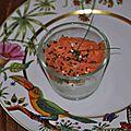 Verrine de faisselle au saumon