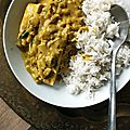 Curry à l'indienne vegetarien