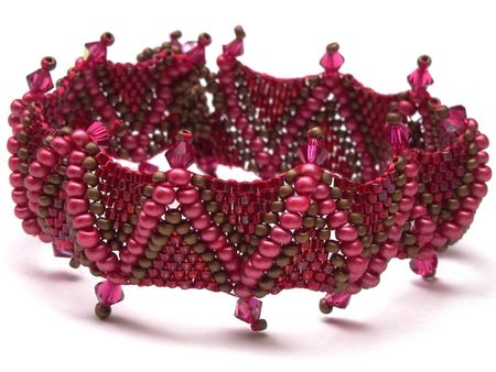 Bracelet_Jagged_peyote_rouge_1