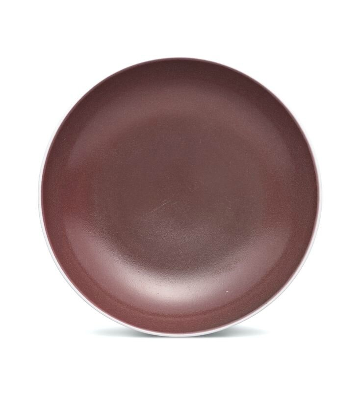 A copper-red glazed dish, Mark and period of Yongzheng