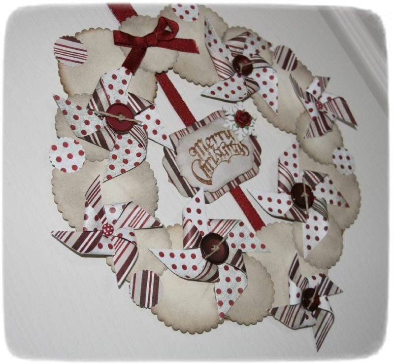 Couronne de noel photo de d co d 39 int rieur les passions scrap et d co de d borah - Deco couronne de noel ...