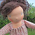 Olga : poupée d'inspirationwaldorf ...adoptee