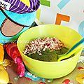 Purée de courgettes, pomme de terre et jambon - 6 mois