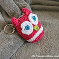 The Serial Crocheteuses n163 Porte-cl Hibou