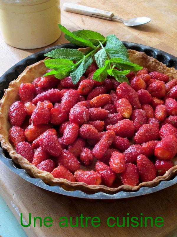Tarte aux fraises toute simple une autre cuisine - Comment cueillir des fraises ...