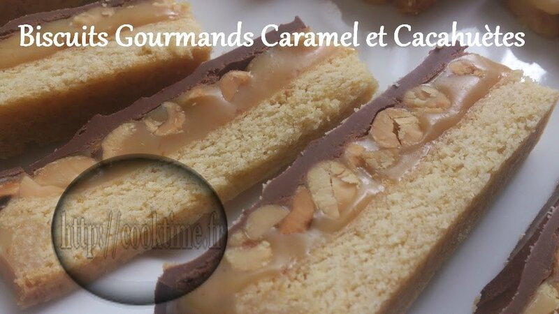 Biscuits Gourmands Caramel et cacahuètes au Thermomix 8