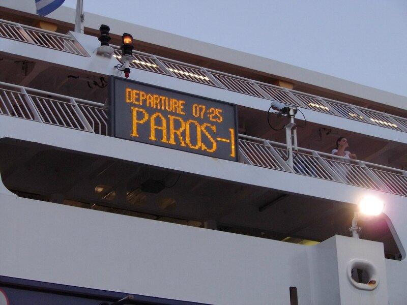 Départ Paros