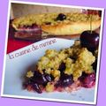 Tarte crumble aux cerises & aux pistaches...  tomber !