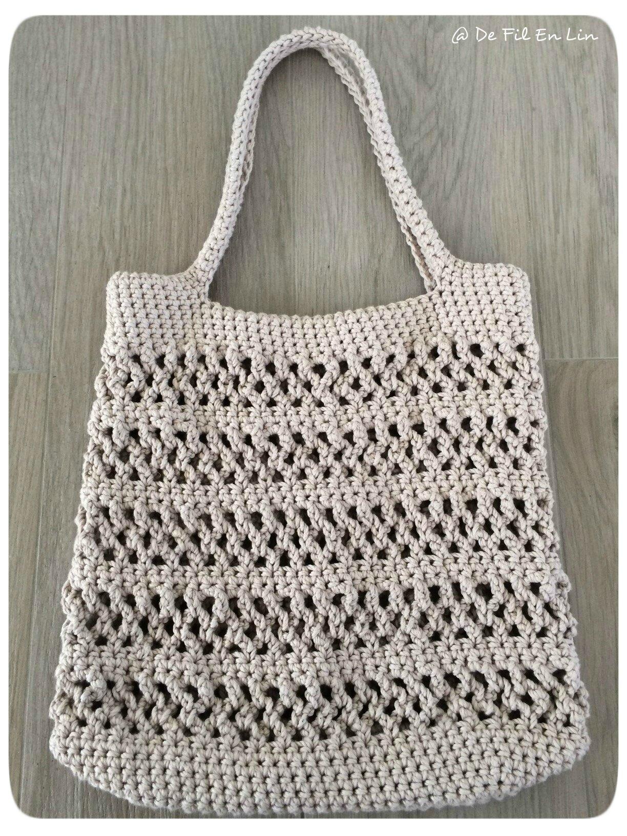 Des Sacs En Crochet : Mon sac d ?t? au crochet dentelle et brocante