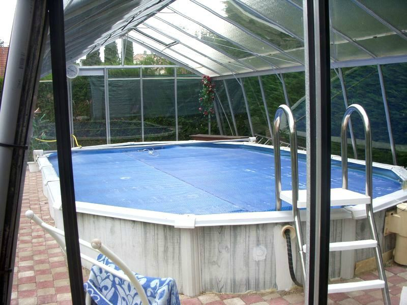 Maison avec piscine chauff e et v randa proche de colmar - Prix veranda piscine couverte ...