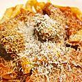 boulettes de boeuf et pâtes