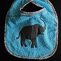 Bavoir Elephant bleu bb S TTF
