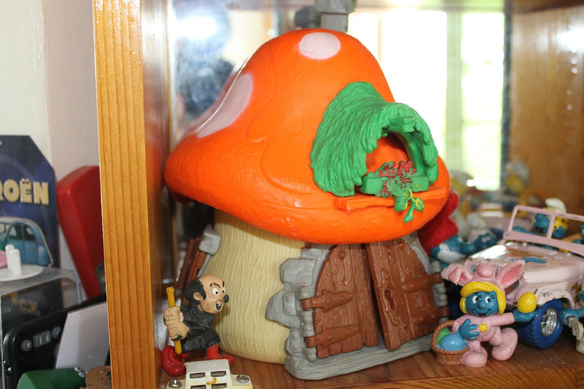 Maison gargamel et schtroumpfette lapine au pays de - Schtroumpf maison ...