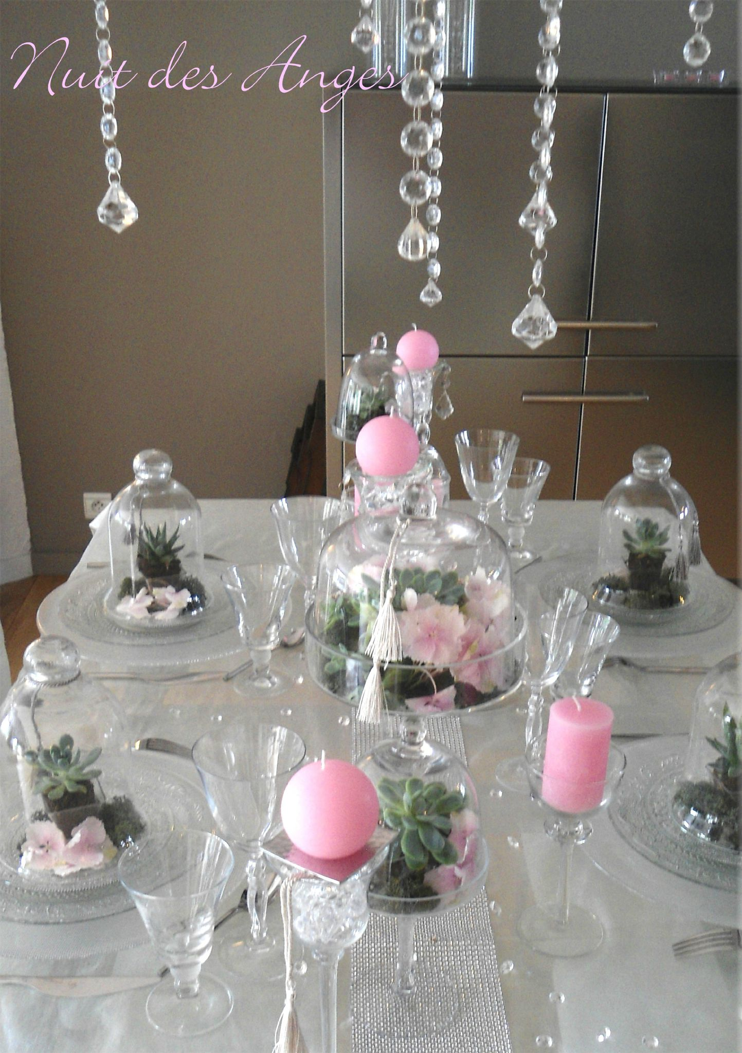 Decoration de table pour mariage rose et gris id es et d for Decoration or rose