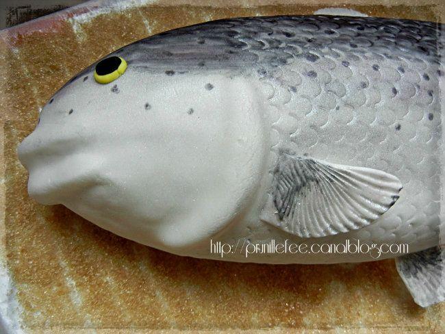 gateau poisson en 3d { pâte à sucre } - prunille fait son show