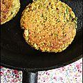 Galette de céréales aux courgettes (vegan, ss gluten)