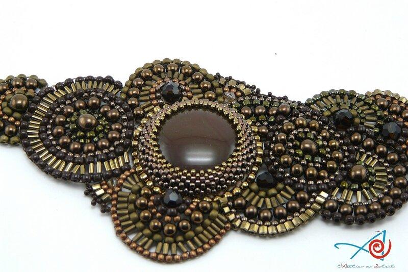 Bracelet brick stitch circulaire Maman (Copier)