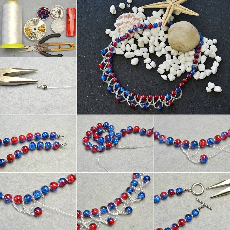 How-to-Design-Two-Tone-Crackle-Glass-Beads-Choker-Necklace
