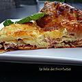Clafoutis sale tomates séchées jambon cru mozzarella basilic