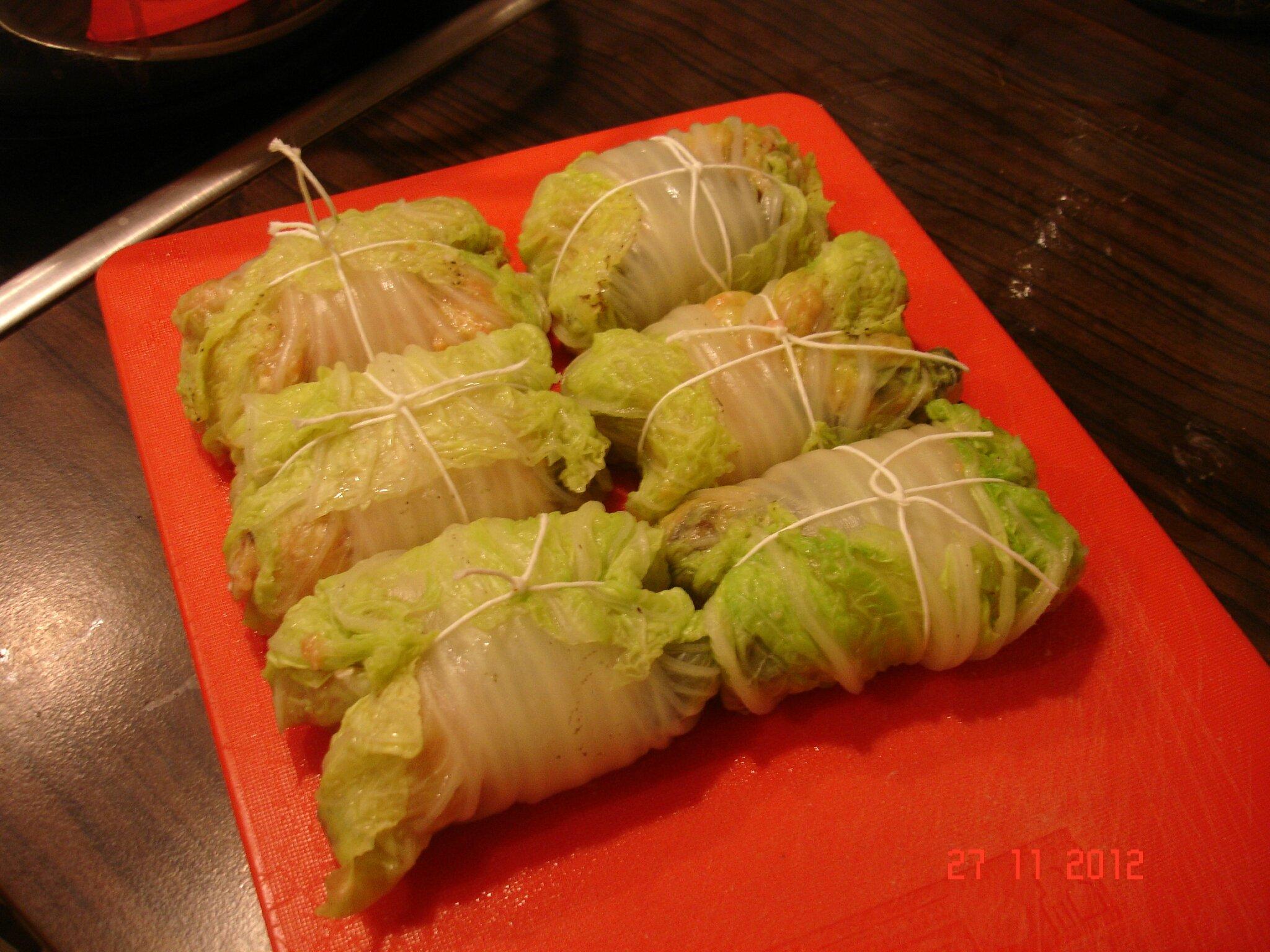 Chou chinois farci la cuisine sans lactose - Cuisiner du choux chinois ...