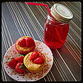 Muffins fraise citron
