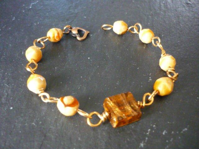 Bracelet bronze miel