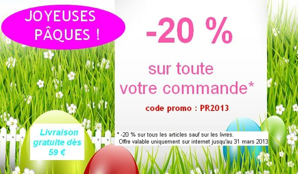 offre paques 2013 newsletter