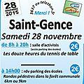 Téléthon à saint-gence, le samedi 28 novembre 2015