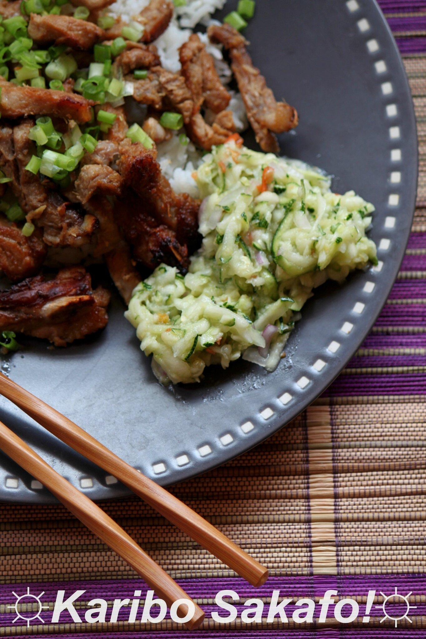 Porc au miso (selon une recette de Piment Oiseau)